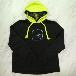 AND1 Basketball XL Black and Neon Yellow Hoodie